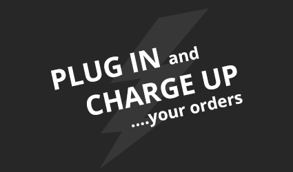 Plug in and charge up your orders.